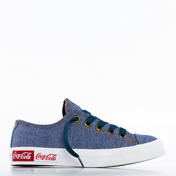 Tênis Coca-Cola Blend Canvas - Jeans