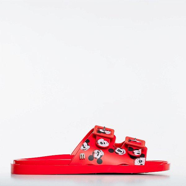 Chinelo Melissa Wide + Mickey - Vermelho/Branco