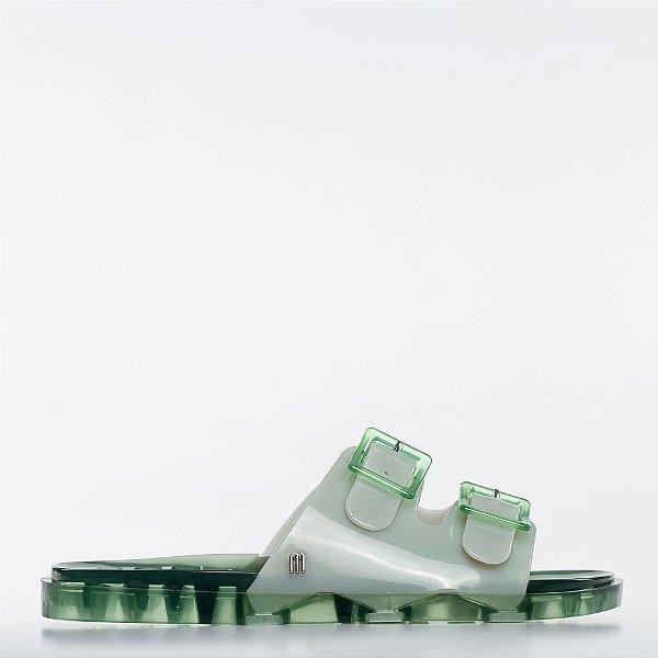 Chinelo Melissa Wide AD - Verde/Verde Transparente