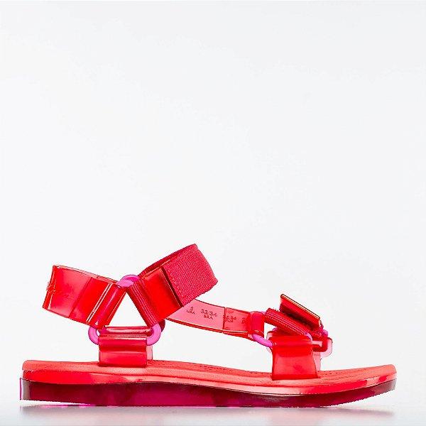 Papete Melissa + Rider - Rosa/Vermelho