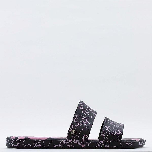 Chinelo Melissa Color Pop + - Preto/Rosa