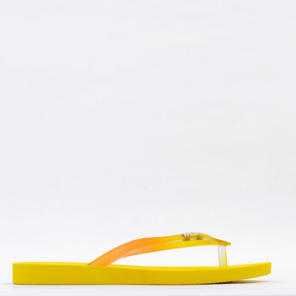 Chinelo Melissa - Amarelo/Vidro