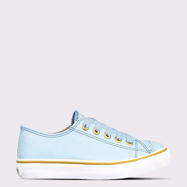 Tênis Capricho Like Class - Azul Claro/Golden