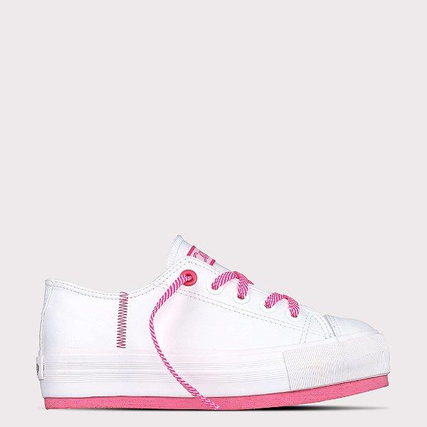 Tênis Capricho Prime Platform Class Mono - Branco/Pink