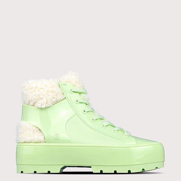 Bota Melissa Fluffy Sneaker - Verde Hortelã