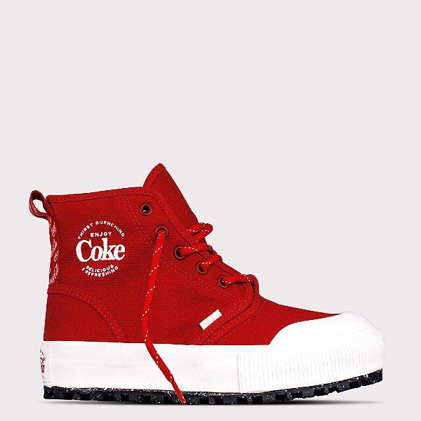 Tênis Coca-Cola Denver - Vermelho