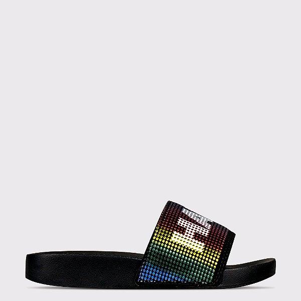 Chinelo Capricho Slide Have Fun - Preto/Color