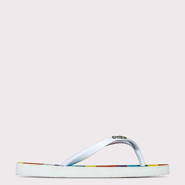 Chinelo Capricho Rainbow Color - Branco