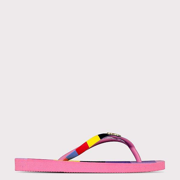 Chinelo Capricho 3D Colorful Straps - Rosa Claro