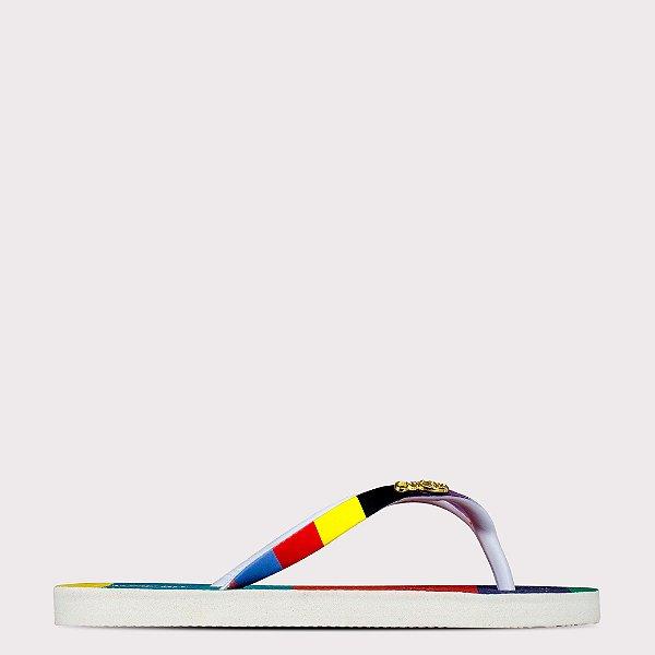 Chinelo Capricho 3D Colorful Straps - Branco