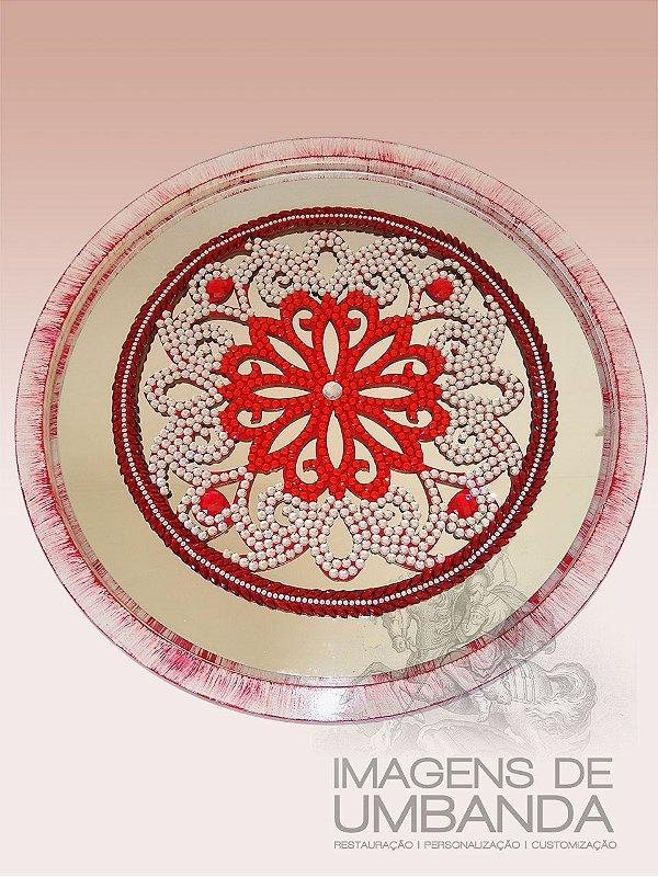Mandala Vermelha e Prata