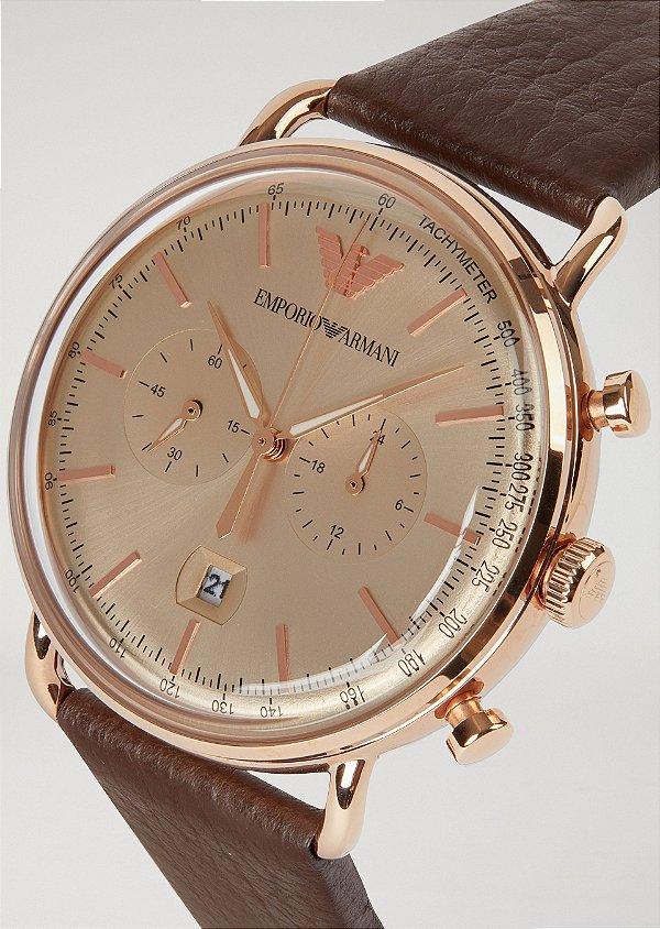 1561ec660 Relógio Emporio Armani Masculino Aviator Classic - A Europa no Brasil!