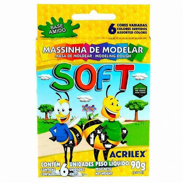 MASSA MODELAR COM 6 ACRILEX