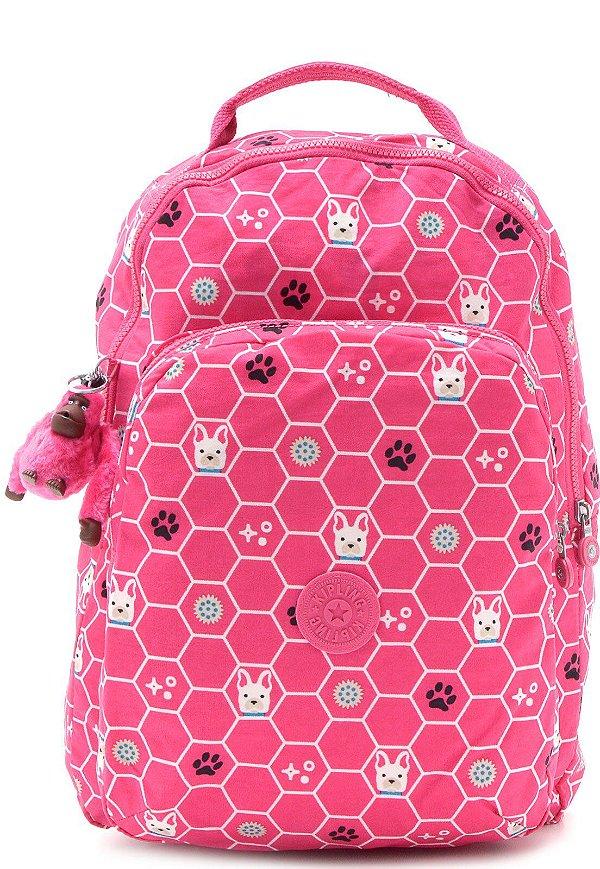 Mochila Kipling Gouldi Pink Dog Tile 67B