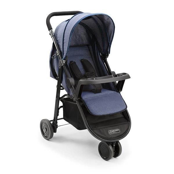 Carrinho de bebê Agile 3 Rodas Weego Jeans - Multikids Baby