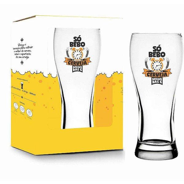 Copo Só Bebo Cerveja - 680 ml