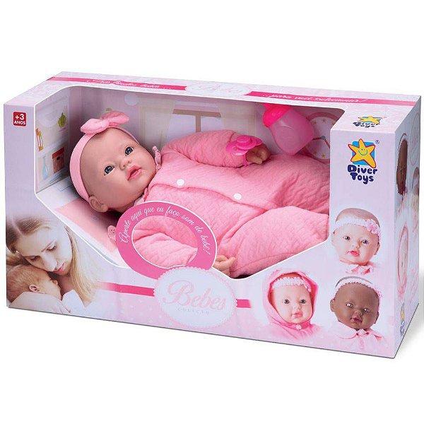 Boneca Bebê Real Lacinho Coleção Divertoys