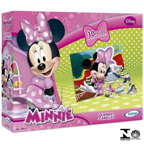 Quebra Cabeça Minnie Disney 30 Peças Xalingo