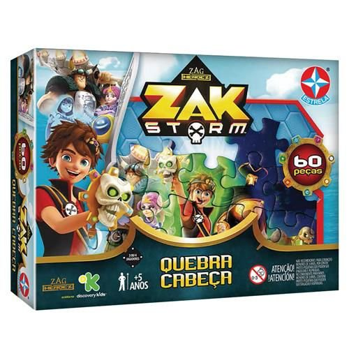 Quebra-Cabeça Estrela Zak Storm - 60 Peças
