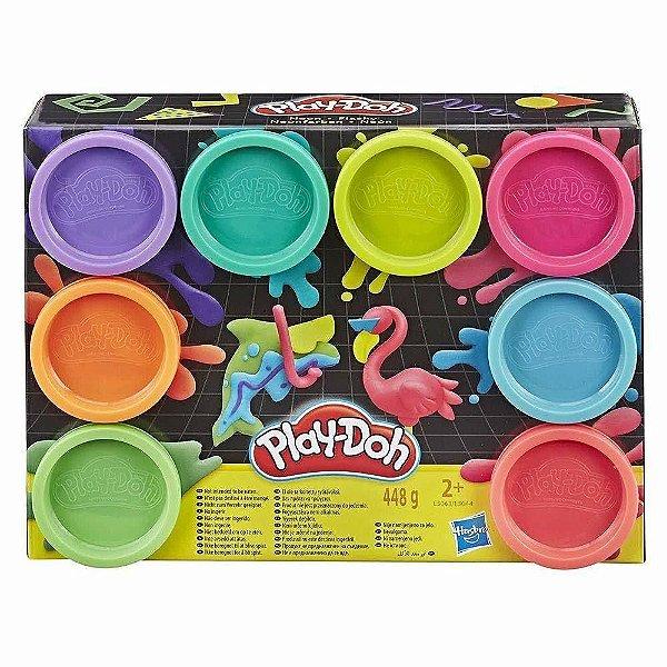 Massa para Modelar Play-Doh Hasbro Cores Neon