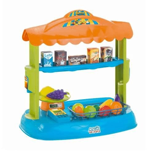 Magic Toys Mercadinho Feirinha Brinquedo Mini Market Com Acessórios