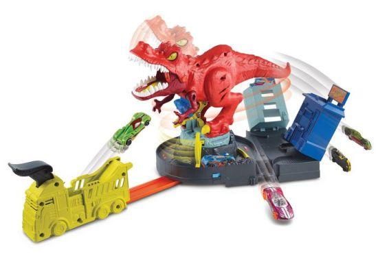 Pista Hot Wheels City T-rex Demolidor