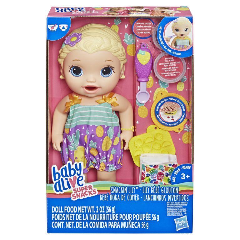 Boneca Baby Alive Hasbro Lanchinhos Divertidos