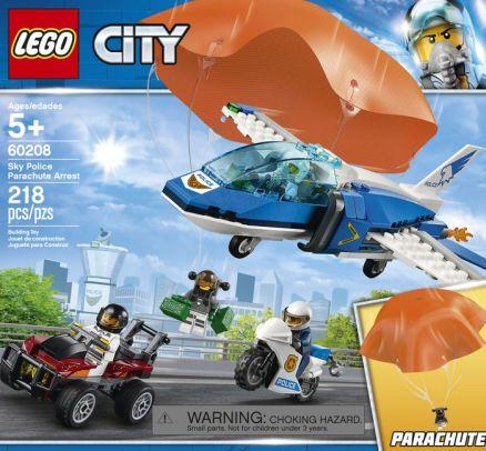 Lego City - Polícia Aérea Detenção De Paraquedas