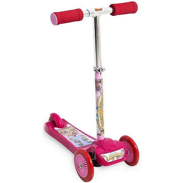 Patinete 3 Rodas Scooter Net Mini Princesas Rosa