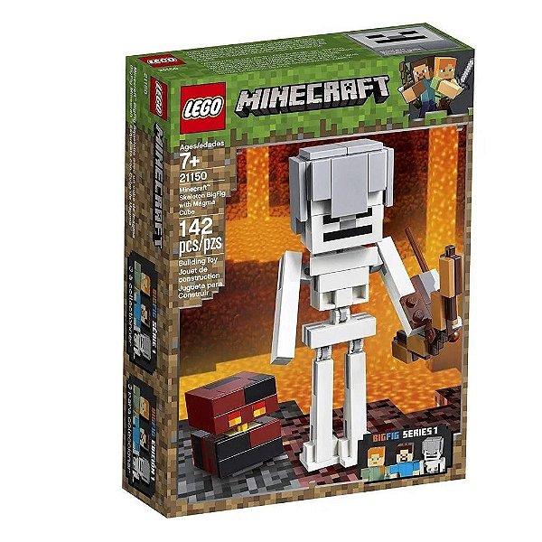Lego 21150 Minecraft Bigfig Esqueleto Com Cubo De Magma