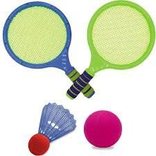 Kit Raquete e Peteca - Azul - Unik Toys