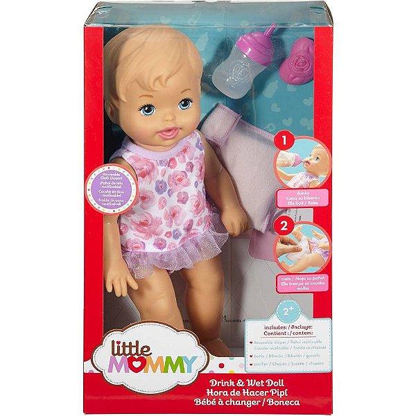 Boneca Little Mommy Mattel Bebê Faz Xixi