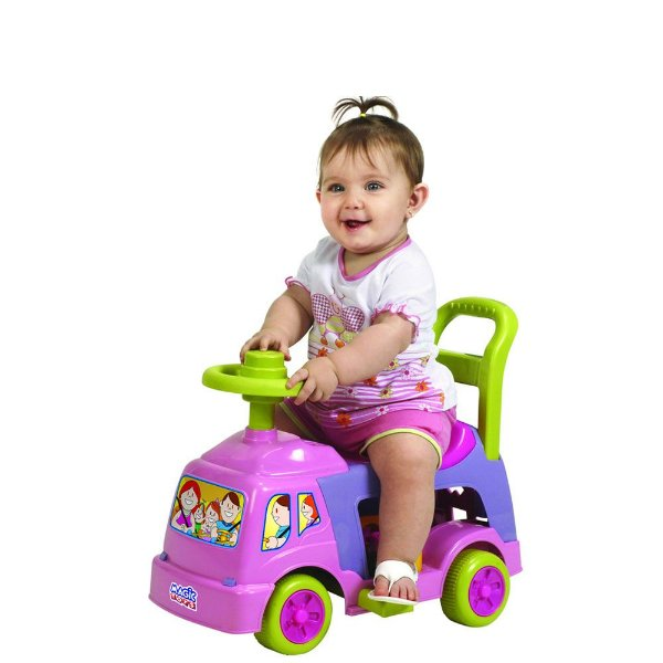 Andador 4 em 1 Rosa - Magic Toys