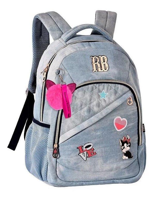 Mochila Laptop Jeans Rebecca Bonbon | RB2055