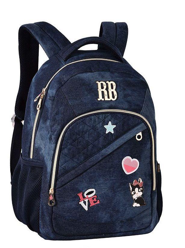 Mochila Laptop Jeans Escuro Rebecca Bonbon | RB2055
