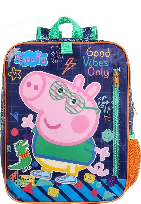 Mochila Escolar Peppa Pig George - 38cm de altura