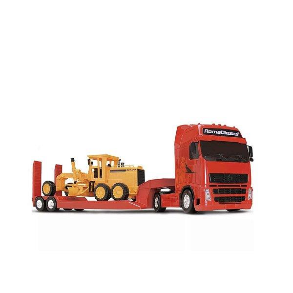 Caminhão Roma Diesel Carreta e Motoniveladora 82cm - Roma