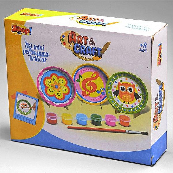 Conjunto De Pratos Porcelana 3 Pçs Art & Craft Zp00230 Zoop Toys