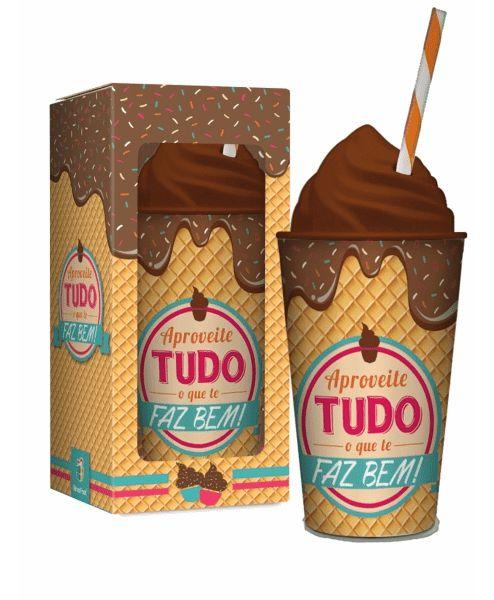 Copo Canudo Sorvete Chocolate