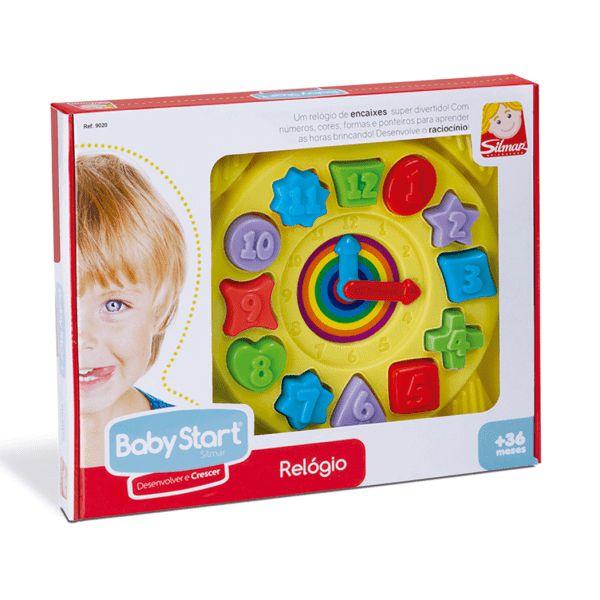 Relógio Educativo com Peças para Encaixar Brinquedo Crianças