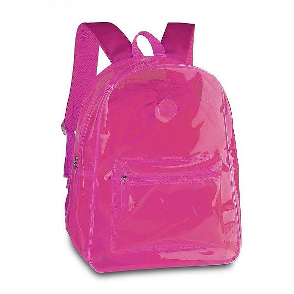 Mochila De Costas Feminina Neon - Clio Style Coleção 2020 Rosa