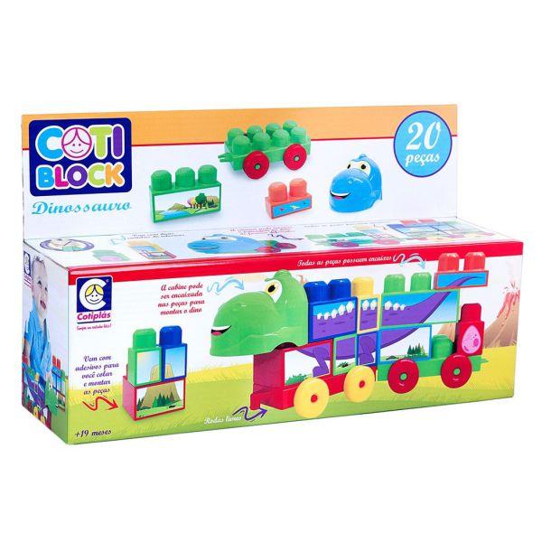Cotiplás Blocos Montar Coti Block Dino