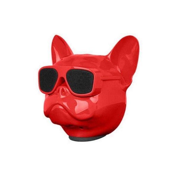 Caixa De Som Dog Bluetooth Vermelho