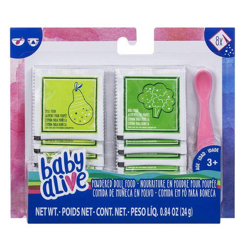 Acessórios Baby Alive Refil Comida em Pó Para Boneca - Hasbro