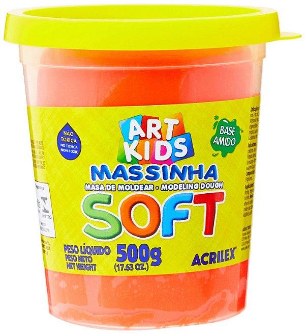 Massa Modelar Acrilex Soft Vermelho 500g