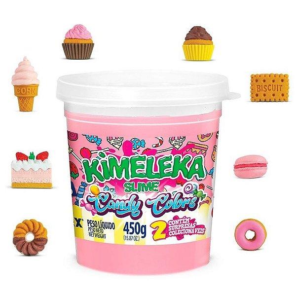 Brinquedo Kimeleka Slime Candy Colors Surpresa Acrilex Rosa