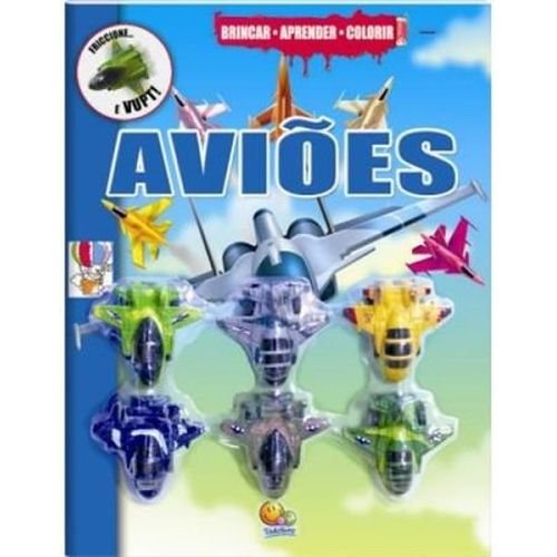 Brincar Aprender Colorir - Aviões