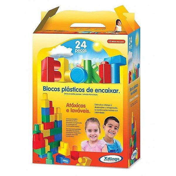Blocos De Encaixe Blokit 24 Peças Xalingo
