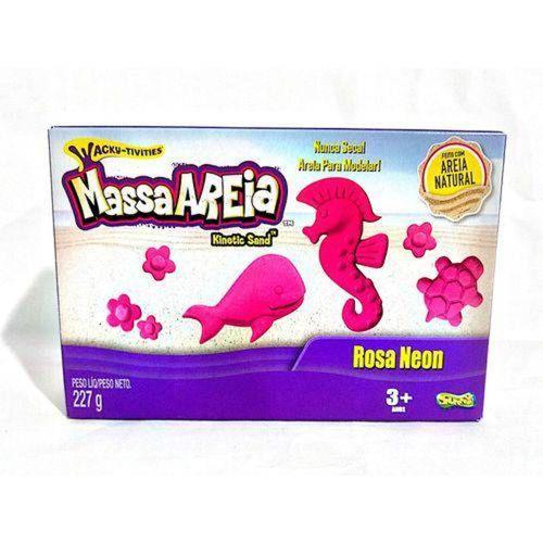 Areia De Modelar 227 G Cores Neon Rosa 1801 Sunny