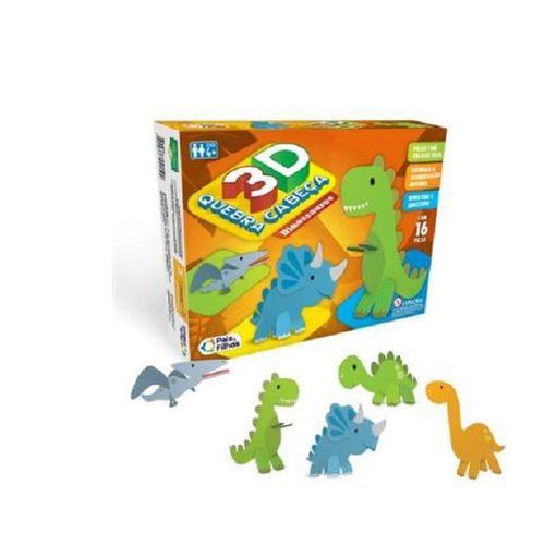 Quebra Cabeça 16pcs 3d Dinossauro 2161 Pais E Filhos
